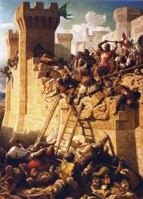 Опсада Акре, слика из XIX века